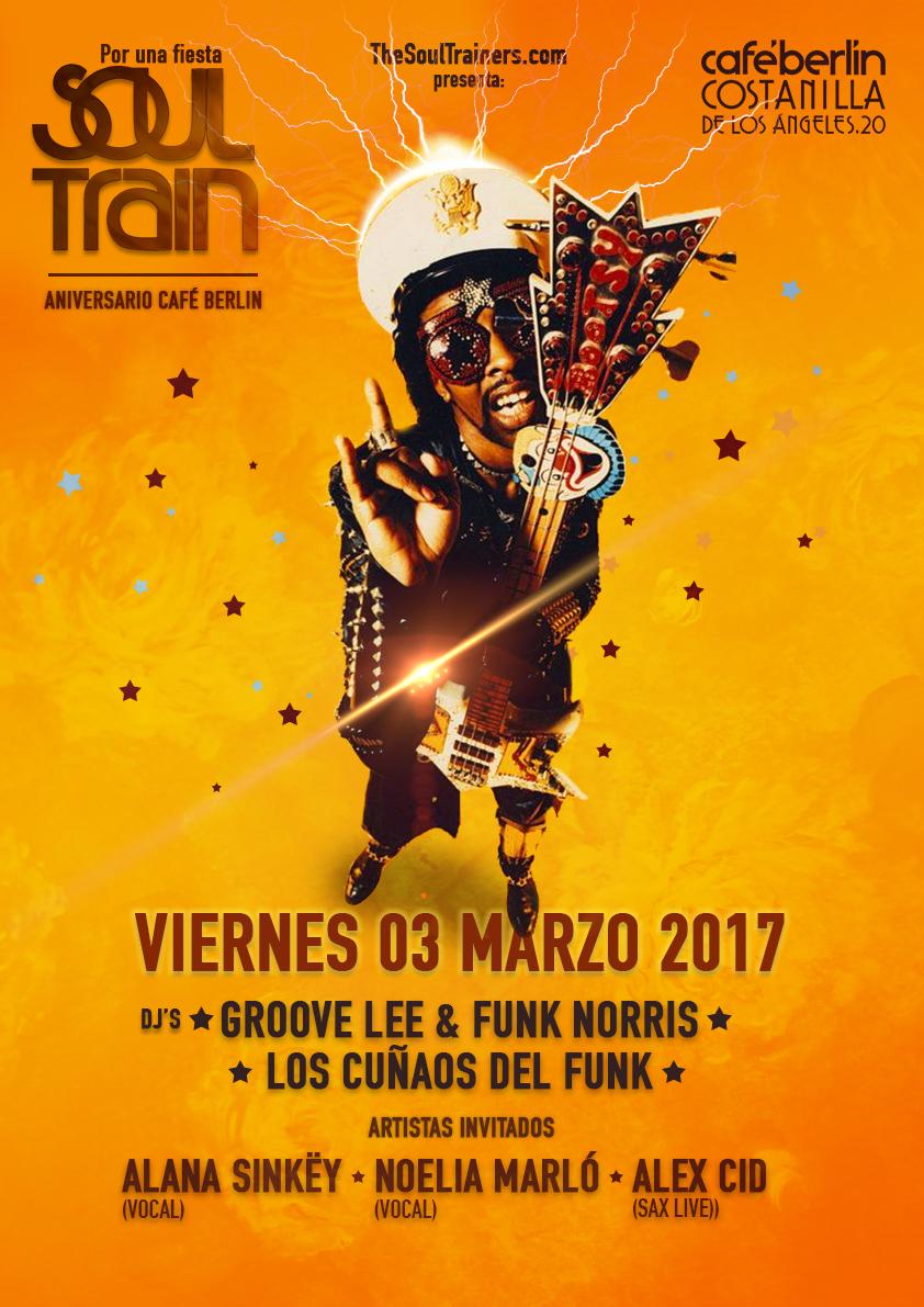V3 Marzo 2017. Soul Train @ Café Berlín